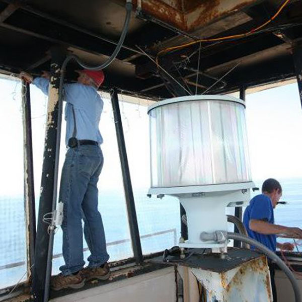 Replace Glass in Frying Pan Tower Lighthouse