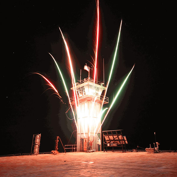 Fireworks Display at Frying Pan Tower